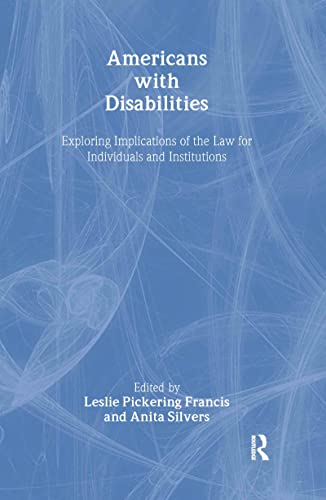 9780415923675: Americans with Disabilities