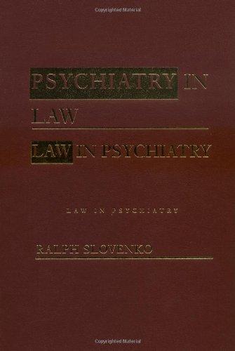 9780415933643: Law in Psychiatry