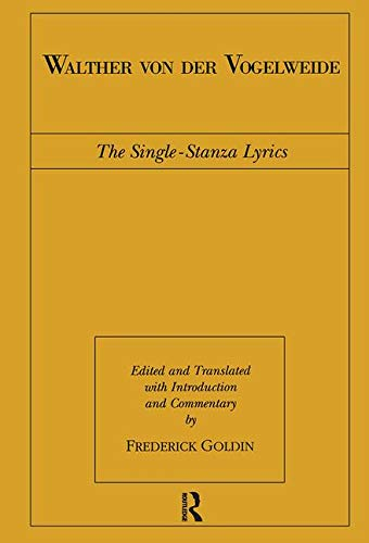 9780415943376: Walther von der Vogelweide: The Single-Stanza Lyrics (Routledge Medieval Texts)