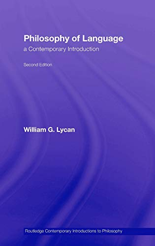 9780415957519: Philosophy of Language: A Contemporary Introduction (Routledge Contemporary Introductions to Philosophy)