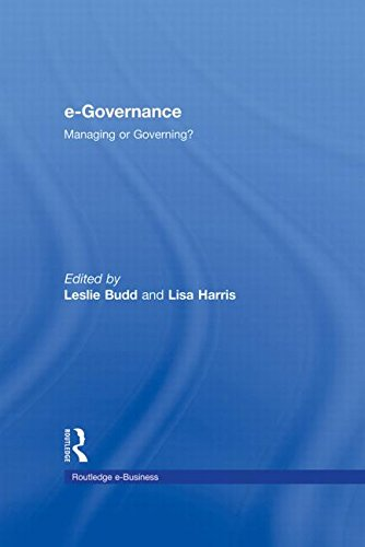 9780415965170: e-Governance: Managing or Governing? (Routledge eBusiness)