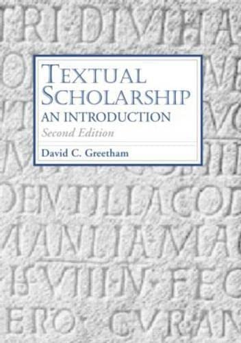 9780415970280: Textual Scholarship: An Introduction (Garland Reference Library of the Humanities)