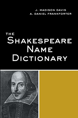 9780415971140: The Shakespeare Name Dictionary