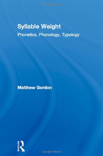 9780415976091: Syllable Weight: Phonetics, Phonology, Typology (Studies in Linguistics)