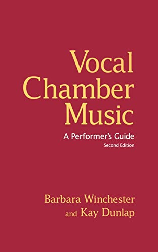 9780415978583: Vocal Chamber Music: A Performer's Guide