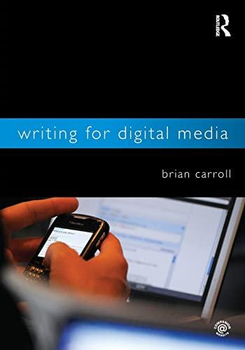 9780415992015: Writing for Digital Media
