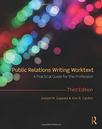 9780415997546: Public Relations Writing Worktext: A Practical Guide for the Profession