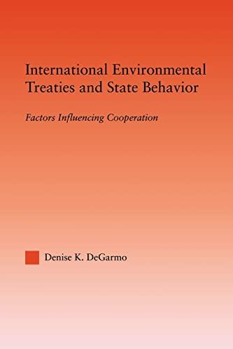 9780415998680: International Environmental Treaties and State Behavior: Factors Influencing Cooperation (Studies in International Relations)