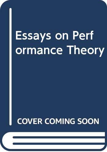 9780416014211: Essays on Performance Theory