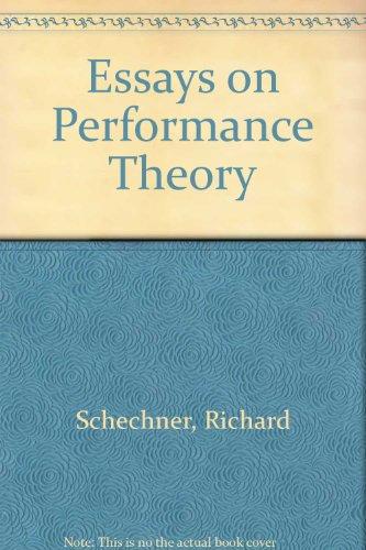 9780416014310: Essays on Performance Theory