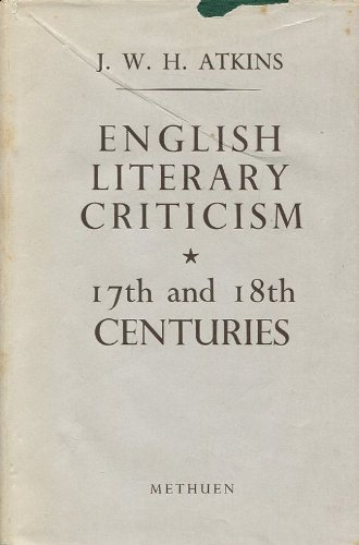 9780416033304: English Literary Criticism: the Renascence