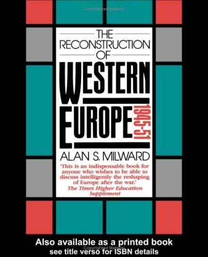 9780416043525: The Reconstruction of Western Europe, 1945-51 (University Paperbacks)