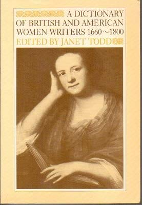 9780416066425: Dictionary of British and American Women Writers, 1660-1800