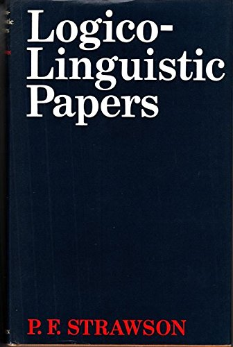 9780416090109: Logico-Linguistic Papers