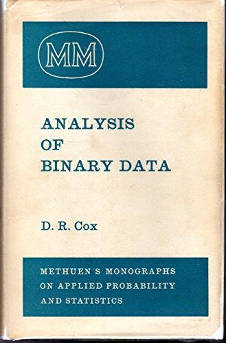 9780416104004: Analysis of Binary Data (Monographs on Applied Probability & Statistics)