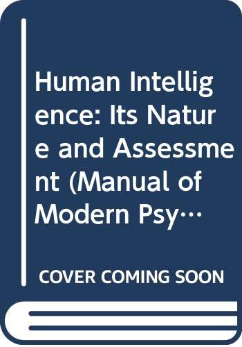 Human Intelligence: Its Nature and Assessment (Manual: Butcher, H.J.