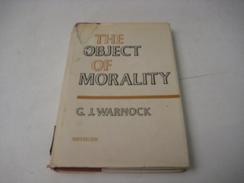 9780416137804: Object of Morality