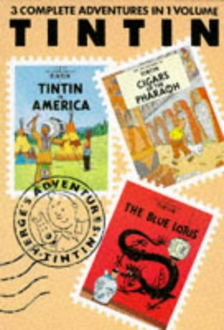 """9780416148527: , america, cigars, blue lotus: """"Tintin in America"""", """"Cigars of the Pharaoh"""" and """"Blue Lotus"""" v. 1 (Tintin Three-in-one)"""