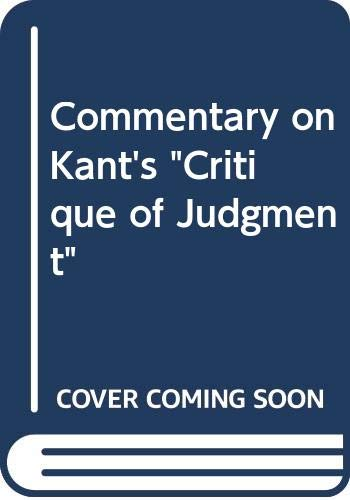 9780416173802: A COMMENTARY ON KANT'S CRITIQUE OF JUDGMENT