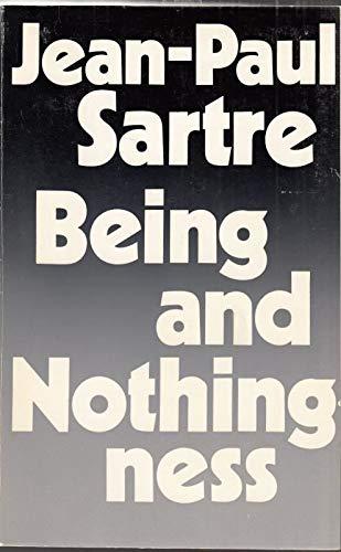 9780416180206: Being and Nothingness: Essay on Phenomenological Ontology (University Paperbacks)