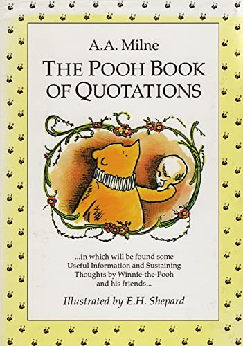 9780416186888: The Pooh Book of Quotations