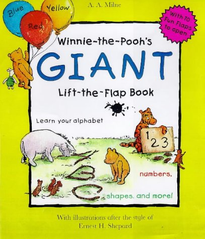 9780416196498: Winnie the Pooh's Giant Lift the Flap Book