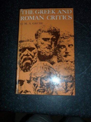 The Greek and Roman Critics: G. M. A. Grube