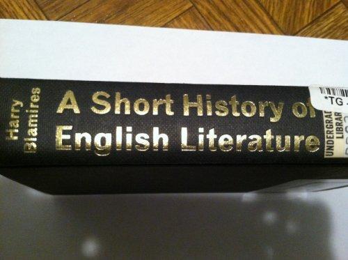 9780416241105: Short History of English Literature