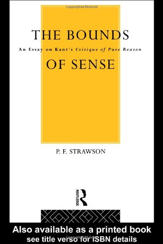 9780416291001: Bounds of Sense: An Essay on Kant's Critique of Pure Reason