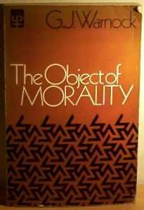 9780416299007: Object of Morality (University Paperbacks)