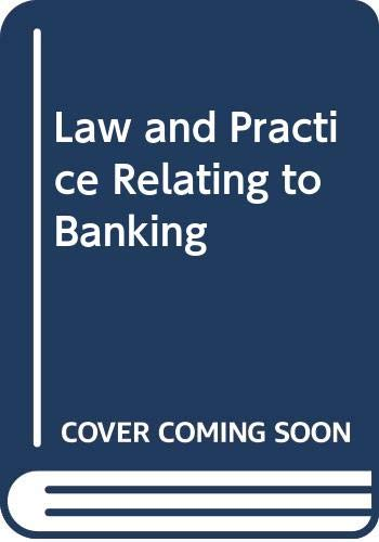 9780416308402: Law and Practice Relating to Banking