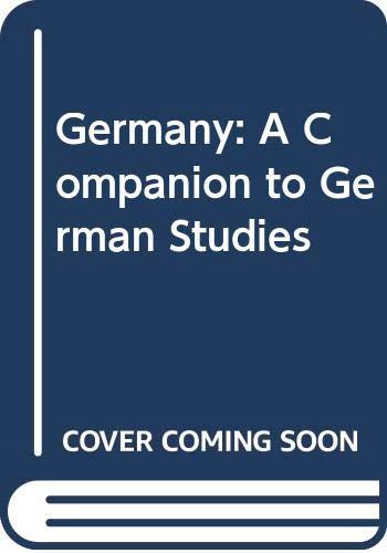 9780416336504: Germany: A Companion to German Studies (Methuen's companions to modern studies)