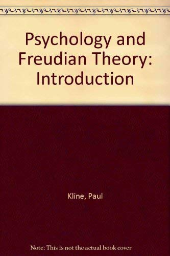 9780416366501: Psychology and Freudian Theory: Introduction