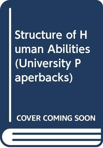 9780416529203: Structure of Human Abilities (University Paperbacks)