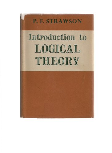 9780416540109: Introduction to Logical Theory