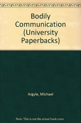 9780416552904: Bodily Communication (University Paperbacks)