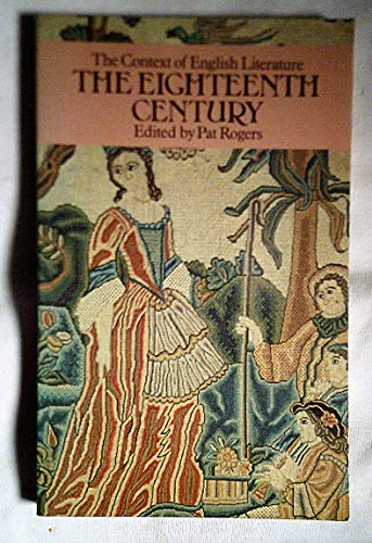 9780416562002: Eighteenth Century (Context of English Literature)