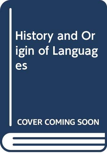 9780416615401: History and Origin of Languages