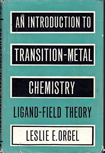 9780416634402: Introduction to Transition Metal Chemistry: Ligand Field Theory