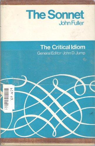 9780416656800: The Sonnet (Critical Idiom)