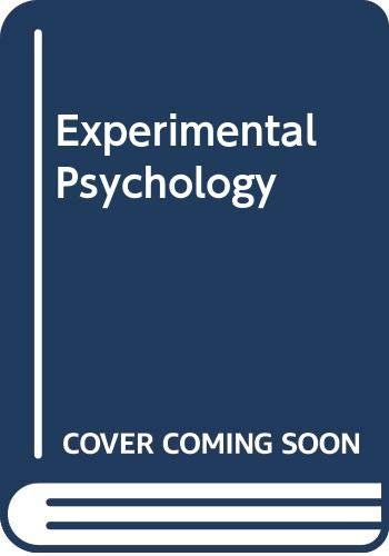 9780416674606: Experimental Psychology