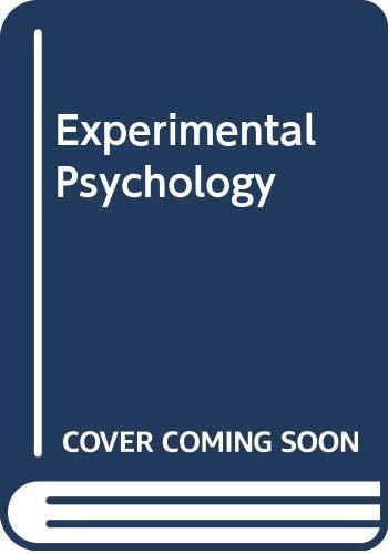 9780416674606: Experimental Psychology