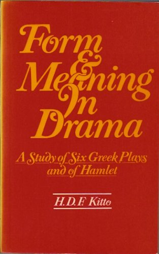 9780416675207: Form and Meaning in Drama (University Paperbacks)