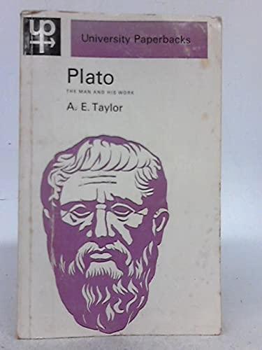 9780416675900: Plato: The Man and His Work (University Paperbacks)