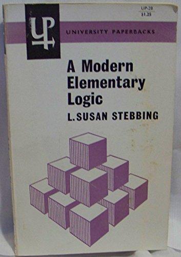 9780416676600: Modern Elementary Logic (University Paperbacks)