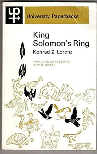 9780416678802: King Solomon's Ring (University Paperbacks)