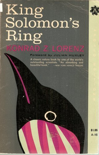 King Solomon's Ring (University Paperbacks) (0416678807) by KONRAD LORENZ