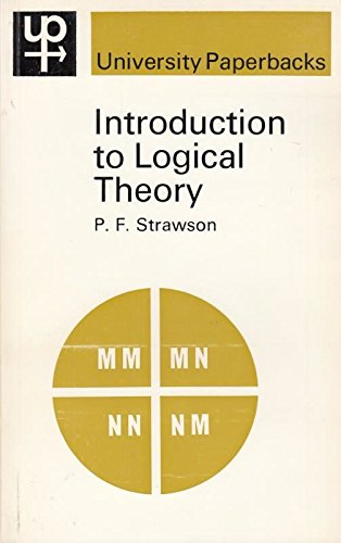 9780416682205: Introduction to Logical Theory (University Paperbacks)