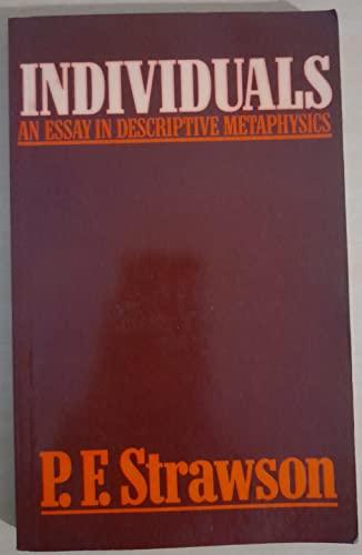 9780416683103: Individuals: An Essay in Descriptive Metaphysics
