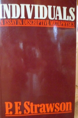 9780416683103: Individuals an Essay in Descriptive Metaphysics